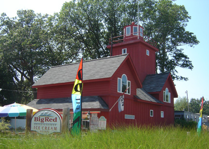 Big Red Ice Cream Shop in Holland, Michigan